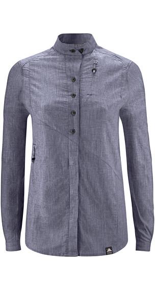 Klättermusen Lofn overhemd en blouse lange mouwen Dames blauw